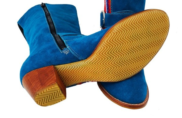 Red River Buckled Leather Boot With Strap Botte A Boucle Avec Bande 4