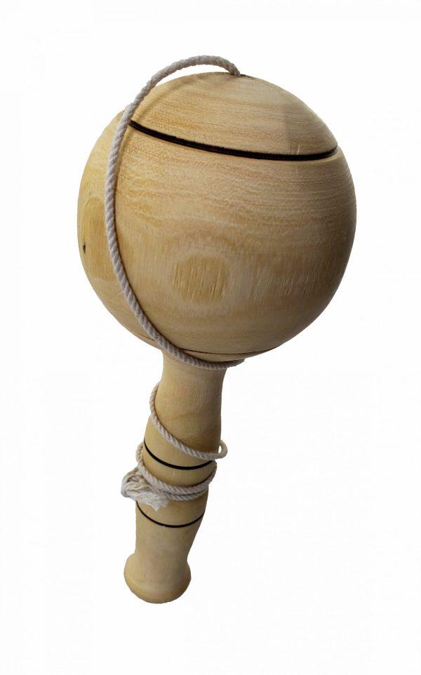 Old Time Wooden Ball Toy With Stick/Kendama - Jouet en bois à l'ancienne avec bâton/Kendama 1