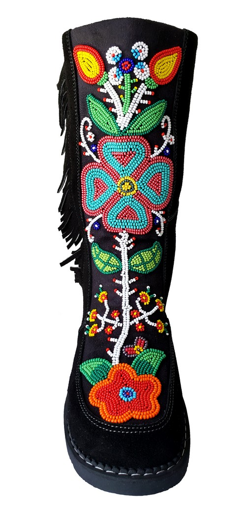 Etchiboy One of A Kind Beaded Boot Botte Perlée Unique - B 2