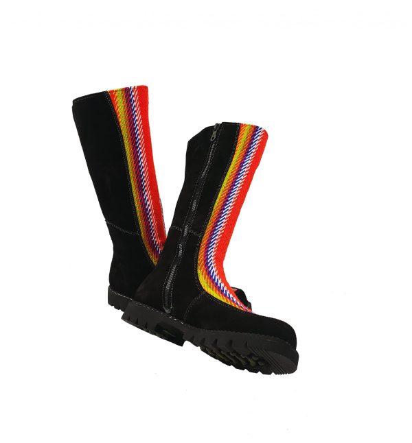 Belle Long Leather Boot With Front Strap Longue Botte Cuir Avec Bande Avant 3