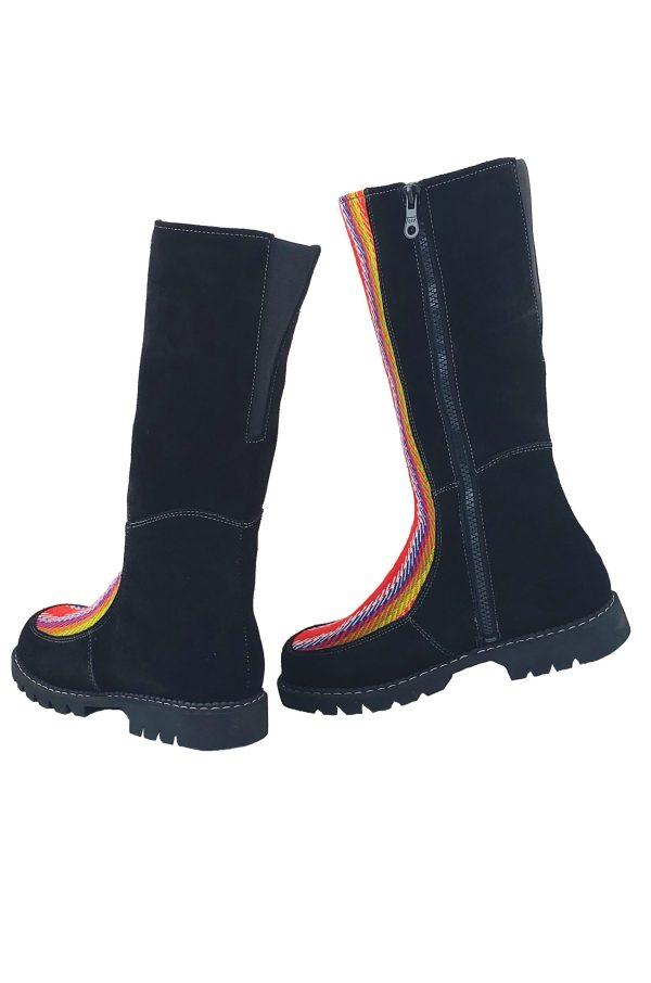 Belle Long Leather Boot With Front Strap Longue Botte Cuir Avec Bande Avant 6