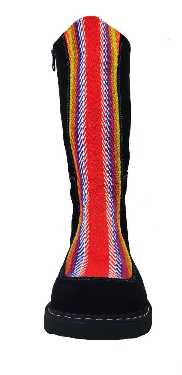 Belle Long Leather Boot With Front Strap Longue Botte Cuir Avec Bande Avant 8