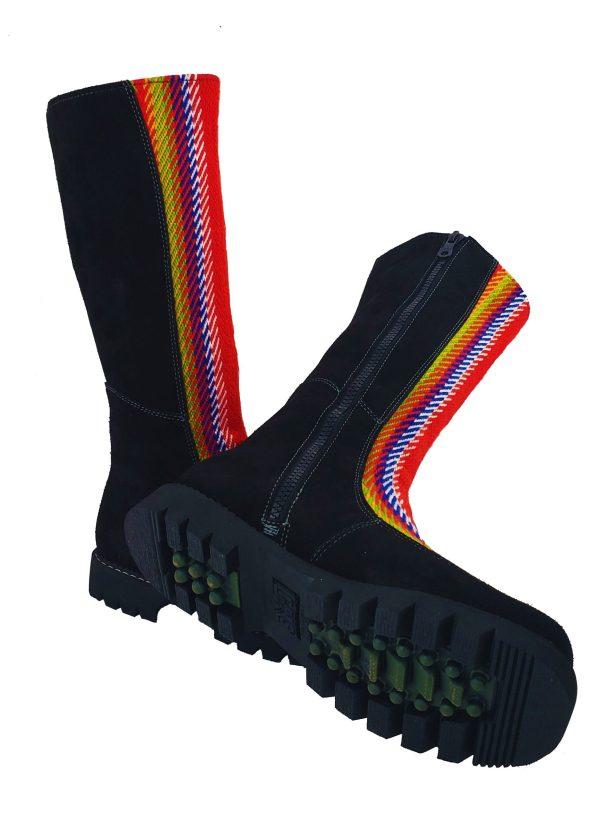 Belle Long Leather Boot With Front Strap Longue Botte Cuir Avec Bande Avant 10