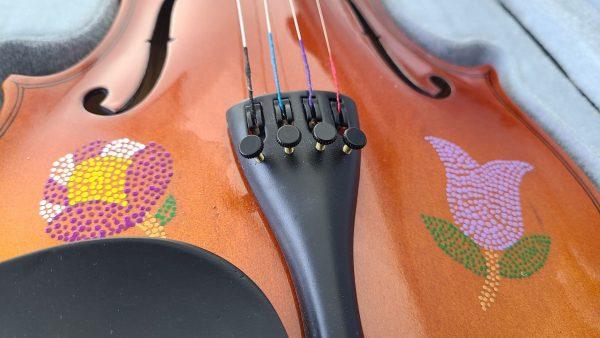 Fiddle With Metis Beadwork Design Violon Avec Dessin de Perlage Métis - Pattern/Modèle -18 1