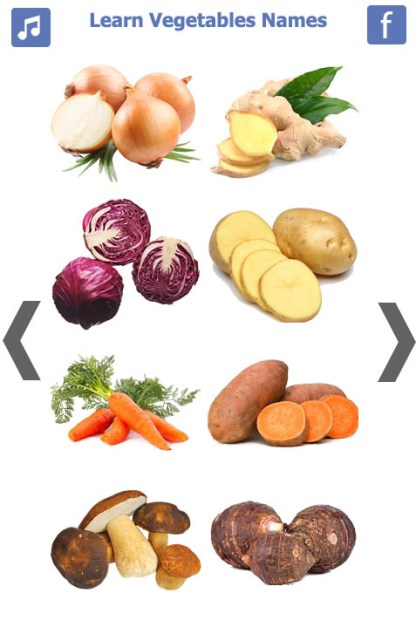 Learn Vegetables Name (5)