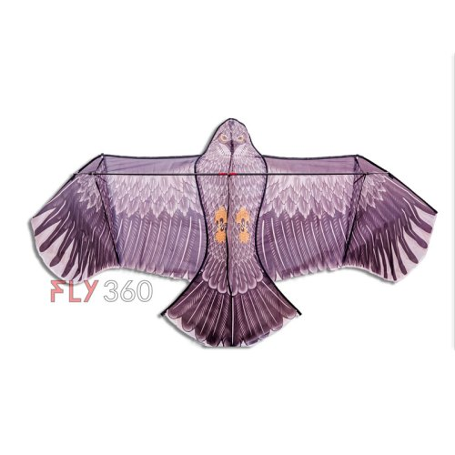 Curved Black eagle kite - Single line kite - FLY360 kite store
