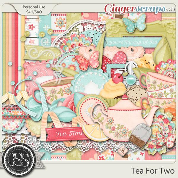 GingerScraps Kits Tea For Two Digital Scrapbooking Kit