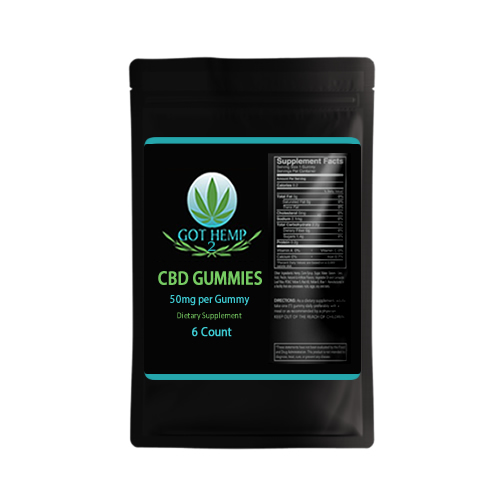 Got Hemp 2 - CBD Store - Duluth GA - CBD Gummies 50mg-6count-black bag