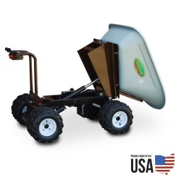Overland Electric Wheelbarrow - 10 cu. ft. with 4WD, Power Dump and Extended Range Battery