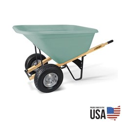 Brentwood Heavy Duty Wheelbarrow - 10 cu. ft. Hopper