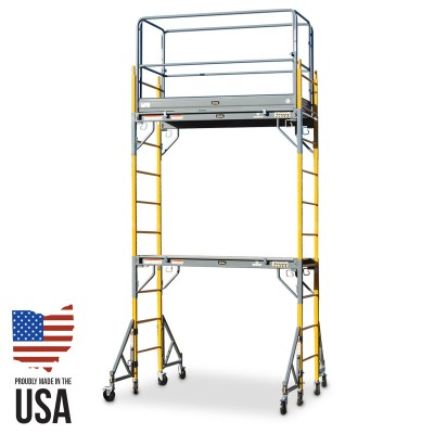 Granite Snappy SP-6D Scaffold - Double Unit with Guardrail & Outriggers