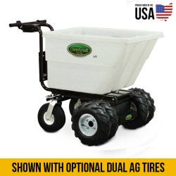 Overland Electric Garden Cart - 7 Cu. Ft. and Turf Tires