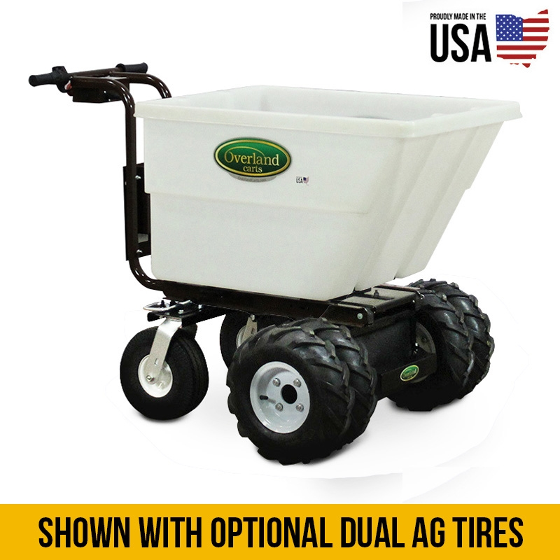 overland electric garden cart 7 cu ft and turf tires