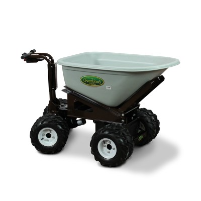 Overland Electric Wheelbarrow - 8 cu. ft. with 4WD, Power Dump and Extended Range Battery