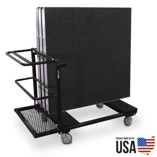American Cart Stage Deck Storage Cart - 4 ft decks