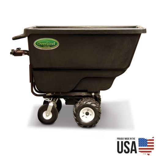Overland 20 cu. ft. Electric Powered Wheelbarrow with Trash Utility Hopper