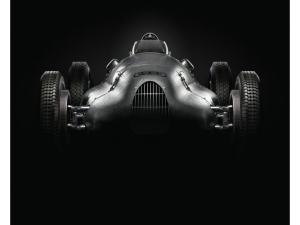 Auto Union Type D - Silver - 1939 - Poster image 1 on GreatBritishMotorShows.com