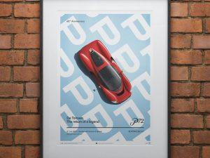 De Tomaso Project P - Top view - 2019 - Poster image 2 on GreatBritishMotorShows.com