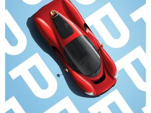 De Tomaso Project P - Top view - 2019 - Poster image 1 on GreatBritishMotorShows.com