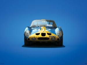 Ferrari 250 GTO - Blue - Targa Florio - 1964 - Colors of Speed Poster image 1 on GreatBritishMotorShows.com