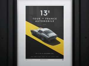 Ferrari 250 GTO - Silver - Tour de France - 1964 - Limited Poster image 2 on GreatBritishMotorShows.com