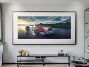 Hunting For Victory - Artwork - Large Print Unframed image 2 on GreatBritishMotorShows.com