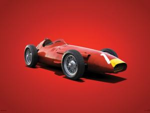 Maserati 250F - Juan Manuel Fangio - 1957 - Colors of Speed Poster image 1 on GreatBritishMotorShows.com