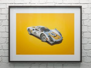 Porsche 906 - White - Japanese GP - 1967 - Colors of Speed Poster image 2 on GreatBritishMotorShows.com
