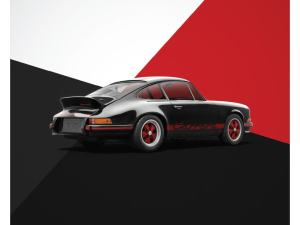 Porsche 911 RS - Black - Limited Poster image 1 on GreatBritishMotorShows.com