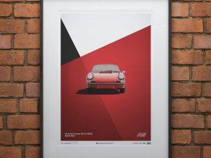 Porsche 911 RS - Red - Limited Poster image 2 on GreatBritishMotorShows.com