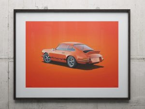 Porsche 911 RS - Tangerine - Colors of Speed Poster image 2 on GreatBritishMotorShows.com
