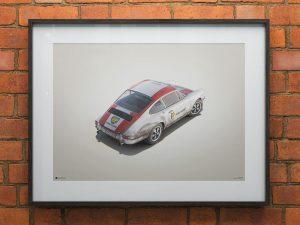 Porsche 911R - BP Racing - Monza - 1967 - Colors of Speed Poster image 2 on GreatBritishMotorShows.com