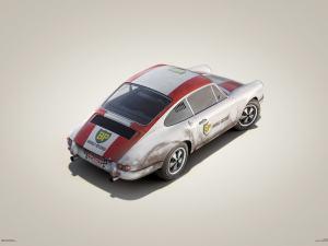 Porsche 911R - BP Racing - Monza - 1967 - Colors of Speed Poster image 1 on GreatBritishMotorShows.com
