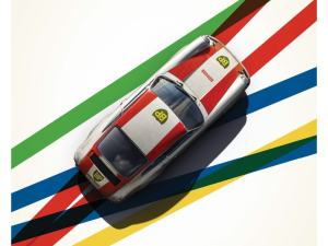 Porsche 911R - BP Racing - Monza - 1967 - Limited Poster image 1 on GreatBritishMotorShows.com