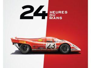 Porsche 917 - Salzburg - 24h Le Mans - 1970 - Limited Poster | Unique #s - #1 image 2 on GreatBritishMotorShows.com