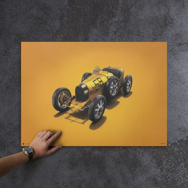 Bugatti T35 - Yellow - Targa Florio - 1928 - Colors of Speed Poster image 5 on GreatBritishMotorShows.com