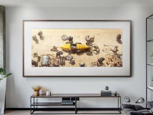 The Queen of the Steering Wheel - Artwork - Medium Print Unframed image 2 on GreatBritishMotorShows.com