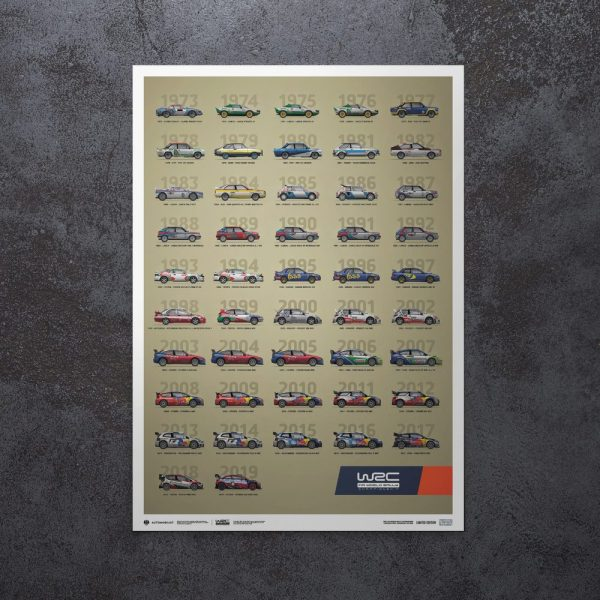 WRC Constructors' Champions 1973-2019 - 47th Anniversary | Limited Edition image 8 on GreatBritishMotorShows.com