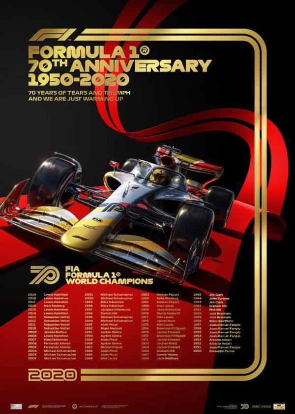 FIA Formula 1® World Champions 1950 - 2019 | Platinum Anniversary Collection - Platinum Set image 3 on GreatBritishMotorShows.com