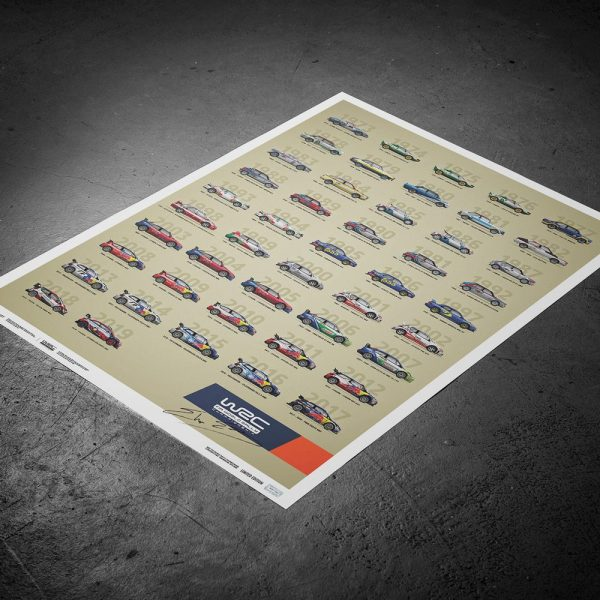 WRC Constructors' Champions 1973-2019 - 47th Anniversary | Limited Edition | Signed by Elfyn Evans - #328 image 5 on GreatBritishMotorShows.com