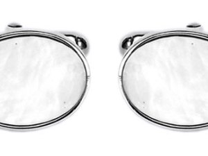 Mother of Pearl Oval Sterling Silver Cufflinks