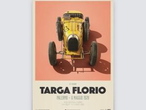Bugatti T35 - Yellow - Targa Florio - 1928 - Limited Poster