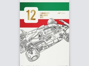 Giorgio Piola - Ferrari 312 T - Niki Lauda - 1975   Collector's Edition
