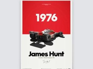 McLaren M23 - James Hunt - Marlboro - Japanese GP - 1976 - Limited Poster