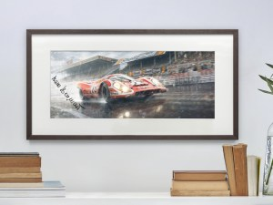 Hollywood Ending - Le Mans 1970   Signed Small Fine Art
