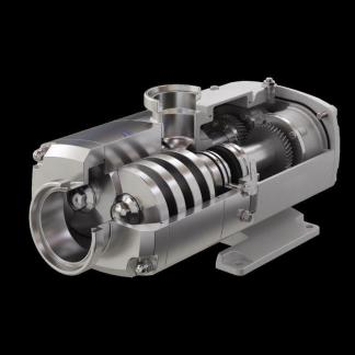 Alfa Laval OS Twin Screw Pump - cutaway - Contact HART Design & Mfg