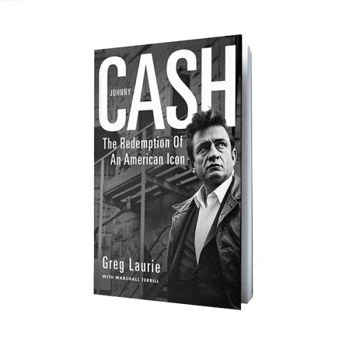 cover of johnny cash redemption of an american icon by greg laurie harvest store