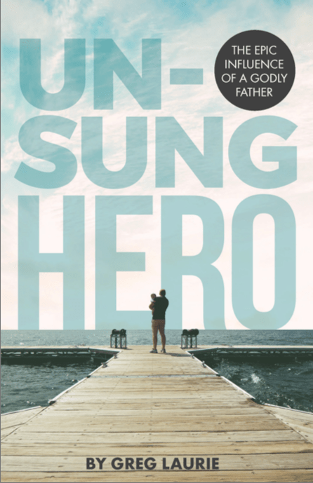 unsung hero book cover art father with son on walkway