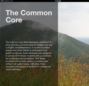 Content Area Literacy Chapter Common Core screenshot