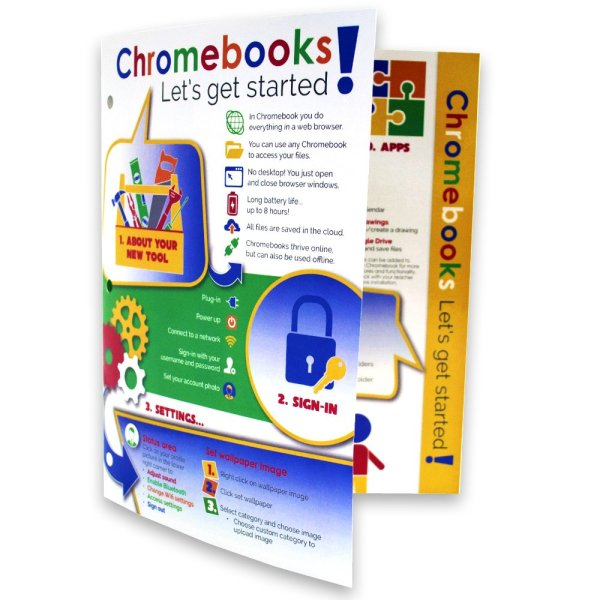 Chromebook Guide Binder Standing - peek inside